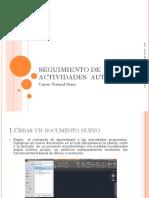 Seguimiento de Actividades Autocad 2d