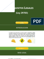 Requisitos Legales de la Ley 29783