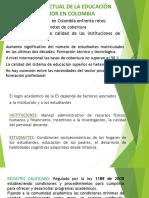 Situación Actual de La Educación Superior en Colombia