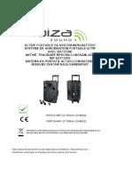 Manual Ibiza Sound PORT12 VHF BT Blanco