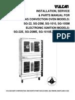Sg22e Gas Convection Oven Vhl002-2b