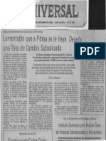 PDVSA Dejado Tasa Cambio Subvaluada Edgard Romero Nava - El Universal 10.12.1986