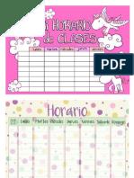 Cuadernillo de Horarios
