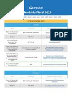 1549283466Calendario Fiscal 2019 - Conteudo Exclusivo Arquivei