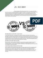 ISO 9000 VS 9001 a