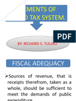 Elements of Sound Tax System