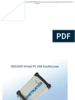 ISDS205X Dds Osciloscopio y Analizador Lógico Virtual PC USB