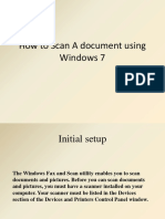 how to scan a document using windows 7