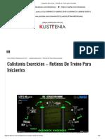Calistenia Exercícios - Rotinas de Treino Para Iniciantes
