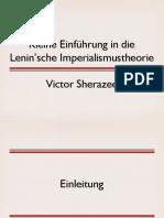Kleine Einführung in die Lenin'sche Imperialismustheorie
