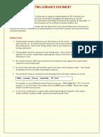 Testing Guidance Document