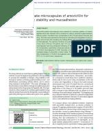 Chitosan-Alginate Microcapsules of Amoxicillin For