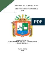 Reglamento Concurso Docente Unap Puno 2019