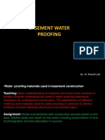 Basement Water Proofing