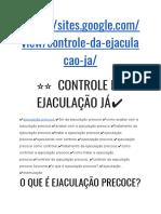 Controle Da Ejaculação - Descubra Como Controlar a Ejaculação em 5 dias