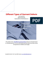Different Types of Garment Defects