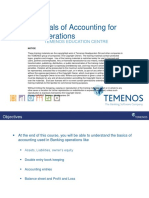 Fundamentals of Accounting for Banking Operations - T1GB Accounting 1