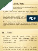 M10 Presentation of Maintenance Programs