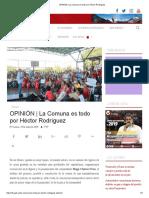 OPINIÓN _ La Comuna Es Todo Por Héctor Rodríguez