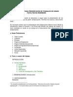 Estructura Documentos Trabajos de Grado