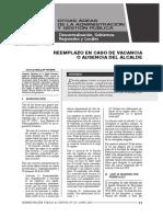 REEMPLAZO EN CASO DE AUSENCIA O VACANCIA DE ALCALDE