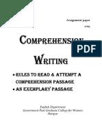 Comprehension Writing
