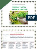 Proyecto Sembramos Plantas en Material Reciclado