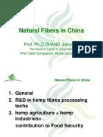 Las Fibras Naturales en CHINA