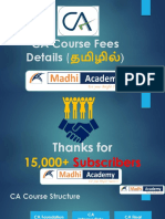 CA Course Fees Details in Tamil