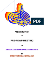 Presentation on Jinnah and Islam Barrages for Pre-PDWP Meeting