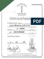 Certificado de Arte en Chocolate