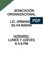 APUNTES COMUNICACIÓN ORGANIZACIONAL