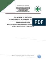 Renstra Dinas Kesehatan Kota Denpasar 2016 - 2021 ( UPTD Puskesmas II Denpasar Selatan )_493380.pdf