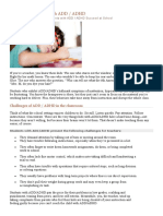 Teaching Students With ADD ADHD