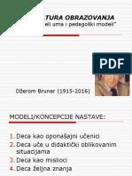 Brunerovi Modeli Nastave 2017