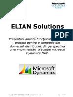 Elian Solutions - ERP - Analiza Functionala  Implementare Dynamics NAV