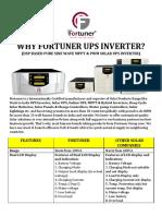 Why Fortuner Ups Inverter