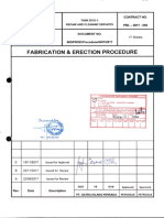 Fabrication & Erection Procedure