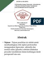 JOURNAL READING Lignocaine-Adrenalin Ppt