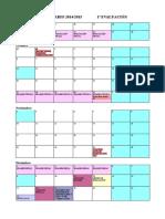 Calendario 2014-2015 Para Mu00ED
