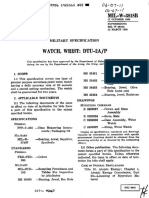 MIL-W-3818B Specifications