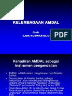 Kelembagaan Penilaian AMDAL
