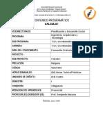 contenido programático de calculo I TSU en Informática UNELLEZ