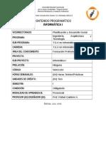 contenido programático de informática I TSU en Informática UNELLEZ