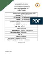 contenido programático de Ingles Tecnico I  TSU en Informática UNELLEZ