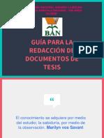 Diapositivas Estructura de Tesis
