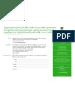 Registration Form De bescherming van aanvullende pensioenen in geval van insolventie van de werkgever voor vaste prestatie en boekreserve regelingen