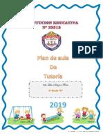 Caratula Plan de Tutoria 4 c