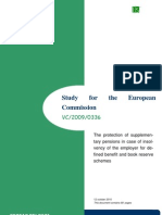 Study Protection of Supplementary Pensions in Case of Insolvency - Final Report[1]