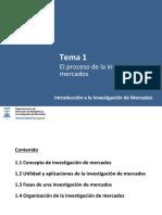 Tema 1 Introduccion a la Investigación de Mercados